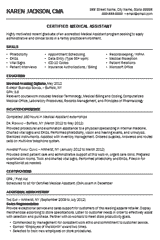 Physician Assistant Resume Template How To Write An Effective Medical Assistant Resume