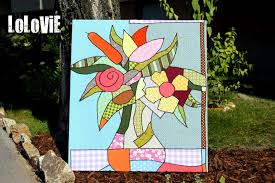 britto garden lolovie paint a picture with fabric or romero britto in cotton