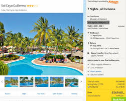 all inclusive holidays with cook best 2017