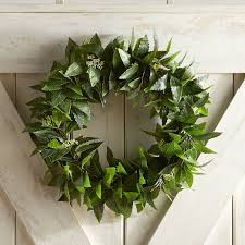 bay leaf wreath faux bay leaves 20 outdoor wreath pier 1 imports