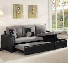 Best Sleeper Sofas Furniture Grey Sectional Sleeper Sofa With Black Leather Frame