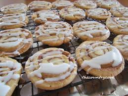 cinnamon roll cookies the country cook