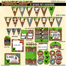 minecraft party supplies minecraft party printable collection mimi s dollhouse
