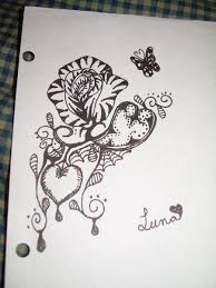 wonderland rose tattoo sketch 2010 by pyroashes on deviantart