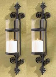 Fleur De Lis Wall Sconce Amazon Com 2 Black Fleur De Lis Candle Garden Wall Hurricane