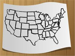 how to draw a map how to draw a map of the usa 9 steps with pictures wikihow