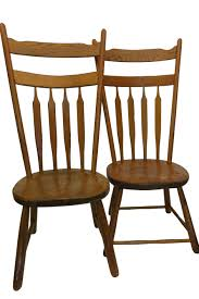Modern Wood Chair Furniture Pair Of Antique Arrow Back Primitive Chairs Rustic Folk Mid