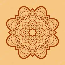 Islamic Invitation Card Ornamental Outline Mandala Vector Square Flyer Card Design