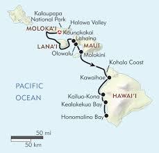 Hawaii Big Island Map Hawaiian Seascapes Itinerary U0026 Map Wilderness Travel