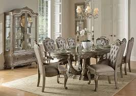 9pc dining room set 1867 102 florentina 9 pc silver gold dining table set