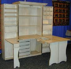 sewing armoire fold down craft table shelby knox