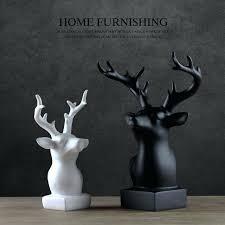 deer home decor resin deer statues modern creative resin deer head figurine