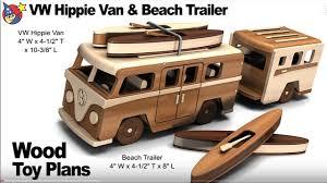 volkswagen van cartoon woodworkers toy plans vw hippie van n beach trailer youtube