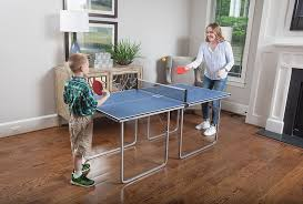 ping pong table playing area amazon com joola midsize compact table tennis table great for