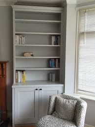 bespoke alcove wall unit with traditional cornice adjustable