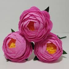 crepe paper flowers 3 pink crepe paper peony flore de papel crepe
