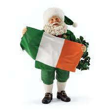 possible dreams santa erin go bragh santa santa with flag by possible dreams