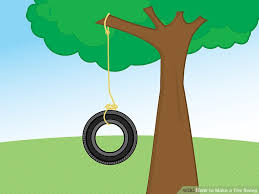 How To Build A Backyard Swing How To Make A Tire Swing With Pictures Wikihow