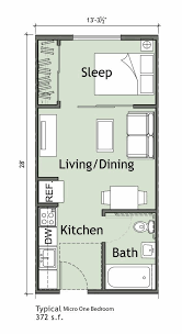 One Bedroom House Plans With Loft 25 Square Meter Micro Apartment Plan Good Rectangular Plan