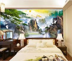 online get cheap 3d mountain river mural wallpaper aliexpress com 3d wall murals wallpaper for living room walls 3 d wallpaper chinese mountain river scenery decor