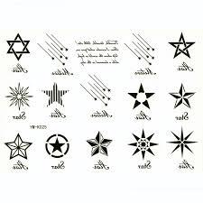 12 star temporary tattoo tijdelijke tattoo manga tatuaje calcinha