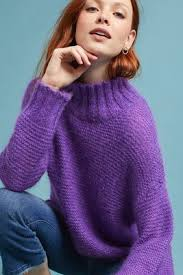 purple sweater tignes pullover anthropologie