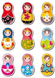 printable russian doll matryoshka stickers free printable