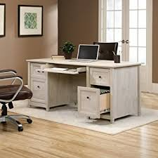 Sauder Registry Row Desk Amazon Com Sauder Edge Water Executive Desk In Chalked Chestnut