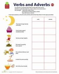 verb and adverb worksheet free worksheets library download and