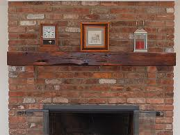 reclaimed cherry fireplace mantel with scarf joint