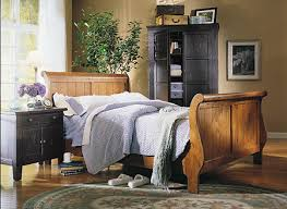 Customize Your Own Bed Set Attic Heirlooms Natural Oak Stain Finish Distinctive Sleigh