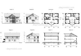 home design dwg download villas dwg models free download
