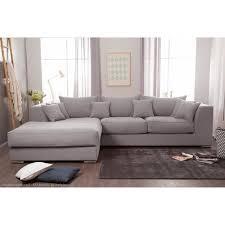 canap d angle d houssable canapé d angle en coton et déhoussable edward gris clair