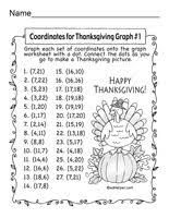 free turkey coordinate graph use a mystery picture to help teach