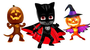 pj masks halloween pumpkin coloring pages for kids pj masks
