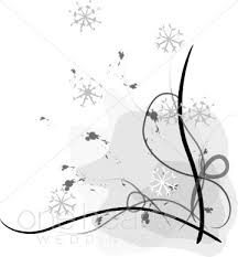 Christmas Wedding Programs Snowy Border Winter Borders