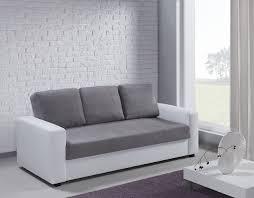 canapé gris 3 places canapé 3 places esther blanc et gris