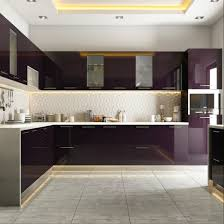 Modular Kitchen Accessories Manufacturers In Bangalore Modular Kitchen Styled In Burgundy Hues Modular Kitchens