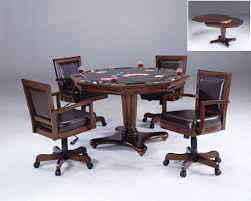 good card table traditional poker table with black leather