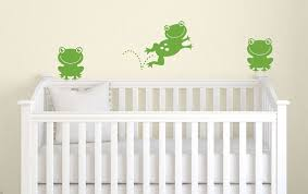 Frog Nursery Decor Frog Wall Decal Children Wall Decal Frog Nursery Decor Frog