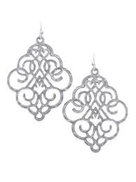 filigree earrings bold filigree earrings in silver fleurty girl