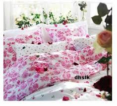 Roses Duvet Cover Ikea Emelina Ros Queen Full Double Duvet Cover Set Pink Roses Romantic