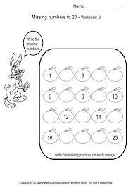 missing number worksheets 3