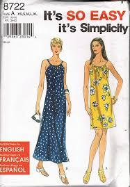 shift pattern en español size 6 24 misses easy dress pattern shift dress sewing pattern