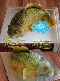 fish birthday cakes carp cake birthday cake 3d carp airbrush fish for