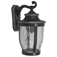 home decorators collection mccarthy 1 light bronze outdoor wall