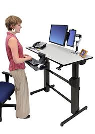 Standing To Sitting Desk Ergotron Workfit D Sit Stand Desk Light Grey