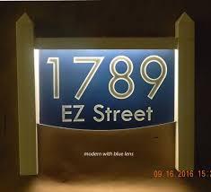 light up address sign light up lawn mount address plaque