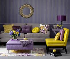 purple and yellow bedroom ideas purple yellow and gray colour palette living room decor