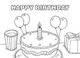 printable happy birthday coloring pages coloring me within happy